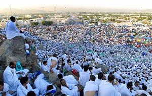 Jamaah haji melaksanakan wukuf di Padang Arafah 9 Dhul-Hijjah